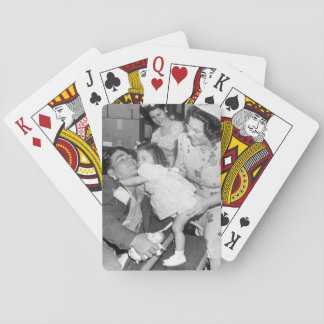Pfc. Lee Harper, who was wounded_War Image Playing Cards