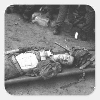 Pfc. Thomas Conlon, 21st Inf. Regt_War Image Square Sticker