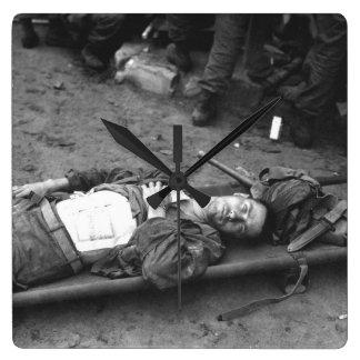 Pfc. Thomas Conlon, 21st Inf. Regt_War Image Square Wall Clock
