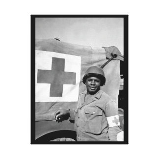 Pfc. Warren Capers recommended for_War Image Canvas Print