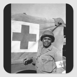 Pfc. Warren Capers recommended for_War Image Square Sticker