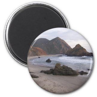 Pfeiffer Beach Big Sur, Ca. 2 Inch Round Magnet