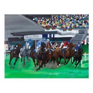 Pferderennen Postcard