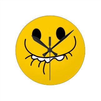 pff Smiley Face Wall Clock