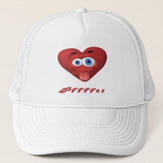 Pfffft! Heart Face Trucker Hat