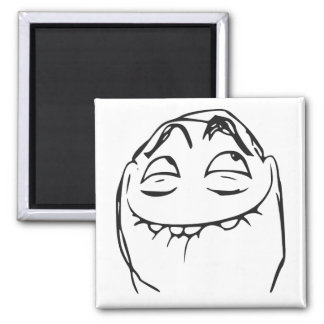 PFFTCH Laughing Rage Face Comic Meme 2 Inch Square Magnet