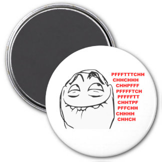 PFFTCH Laughing Rage Face Comic Meme 3 Inch Round Magnet