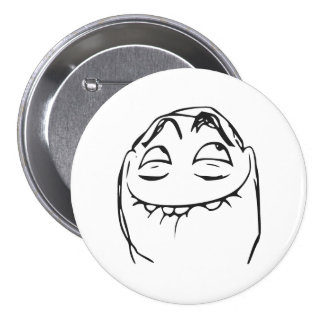 PFFTCH Laughing Rage Face Comic Meme 3 Inch Round Button