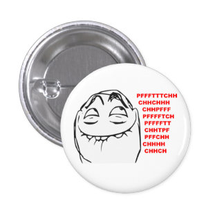 PFFTCH Laughing Rage Face Comic Meme 1 Inch Round Button
