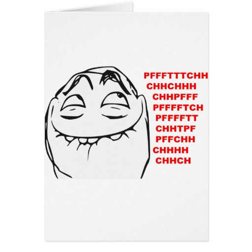 PFFTCH Laughing Rage Face Comic Meme Card