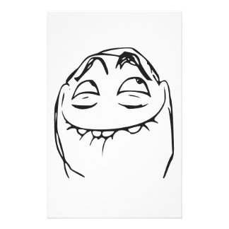 PFFTCH Laughing Rage Face Comic Meme Personalized Stationery