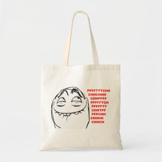 PFFTCH Laughing Rage Face Comic Meme Tote Bag