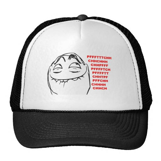 PFFTCH Laughing Rage Face Comic Meme Trucker Hats