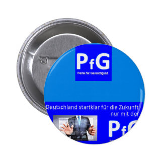 PfG - la alternativa Azul para Alemania Pin Redondo De 2 Pulgadas