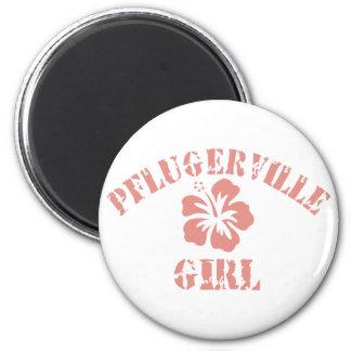 Pflugerville Pink Girl 2 Inch Round Magnet