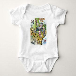 Pflugerville Texas Cartoon Map Baby Bodysuit