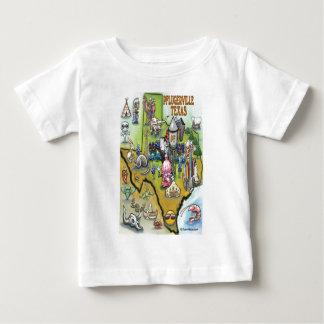 Pflugerville Texas Cartoon Map Baby T-Shirt