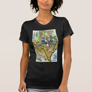 Pflugerville Texas Cartoon Map T-Shirt