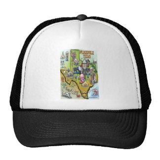 Pflugerville Texas Cartoon Map Trucker Hat