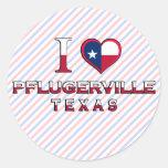 Pflugerville, Texas Round Stickers