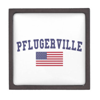 Pflugerville US Flag Jewelry Box