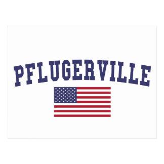 Pflugerville US Flag Postcard