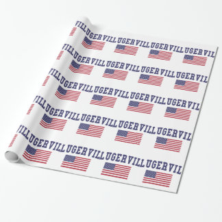 Pflugerville US Flag Wrapping Paper