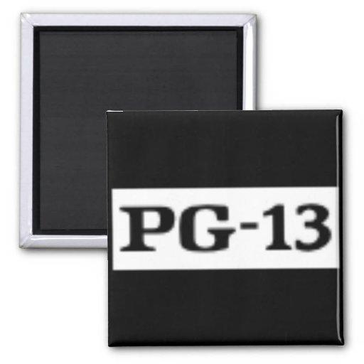 PG-13 clasificado, sistema de calificación Imán Cuadrado