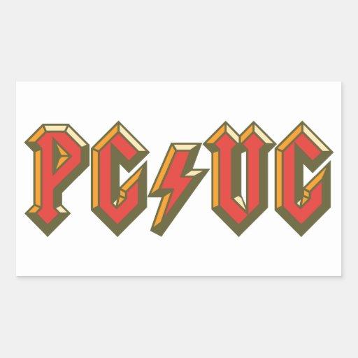 PG/VG RECTANGLE STICKER