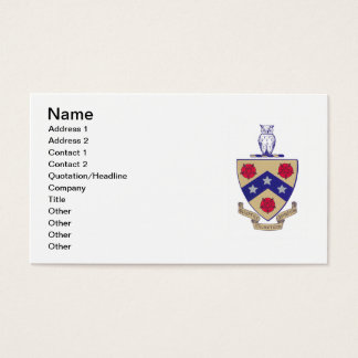 PGD Coat of Arms Business Card