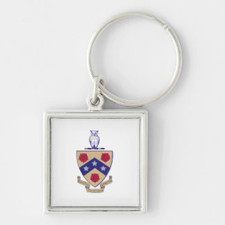 PGD Coat of Arms Silver-Colored Square Keychain
