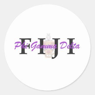 PGD FIJI CLASSIC ROUND STICKER
