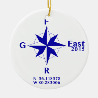 PGR East 2015 sun catcher Double-Sided Ceramic Round Christmas Ornament