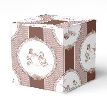 Beach Themed PH&D Beach Bums Baby Shower Favor Box Gift Brown