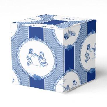 Beach Themed PH&D Beach Bums Baby Shower Favor Box Gift Navy