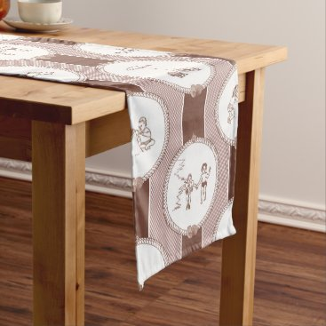 Beach Themed PH&D Beach Bums Baby Shower Table Runner Brown