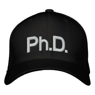 Ph.D. Embroidered Baseball Cap