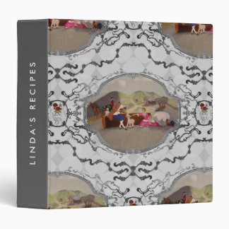 PH&D French Toile Recipe Binder Cookbook Gray