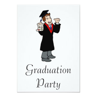 Ph D Graduate 5x7 Paper Invitation Card