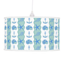 PH&D Seaside Stripe Pendant Lamp Lagoon
