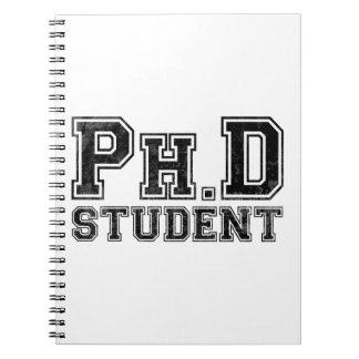 Ph.D Student Spiral Notebook