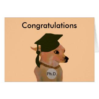 Ph.D. Tarjeta de la graduación