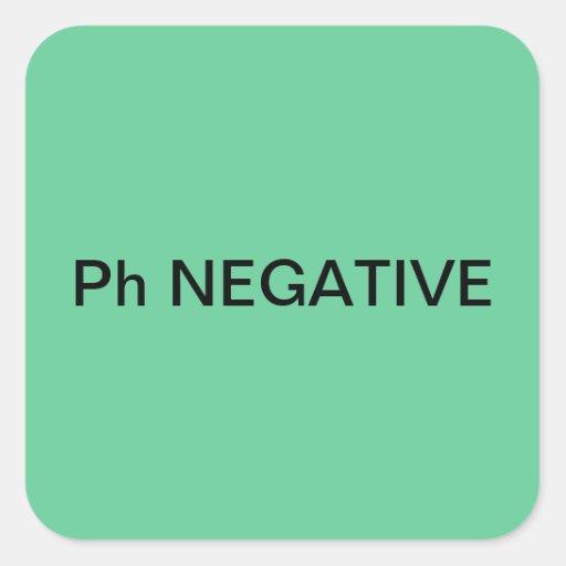Ph Negative Medical Chart Labels Square Sticker