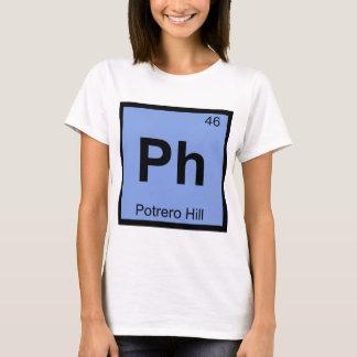 Ph - Potrero Hill San Francisco Chemistry Symbol T-Shirt