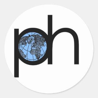 PH_Symbol.jpg Classic Round Sticker