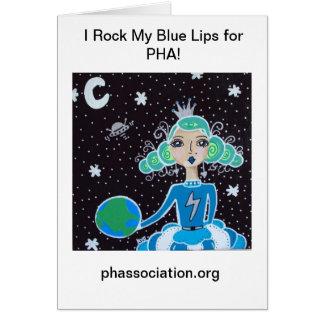 PHA Notecard...Blue Lips Card