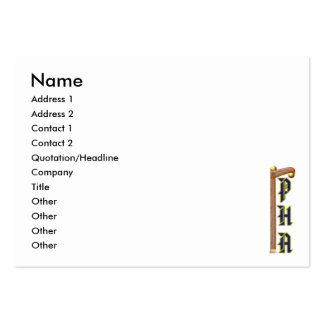 PHA Two Ball Cane Card Large Business Card