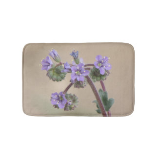 Phacelia Purple Wildflowers Bath Mats
