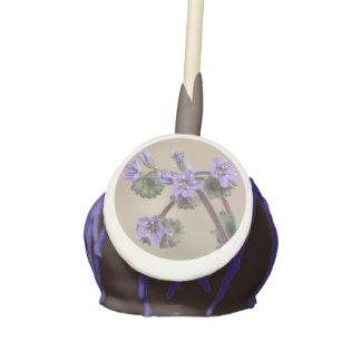 Phacelia Purple Wildflowers Cake Pops