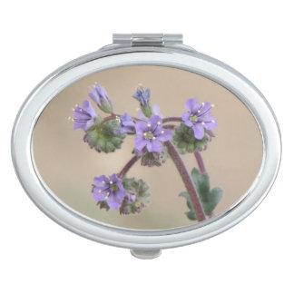 Phacelia Purple Wildflowers Compact Mirror